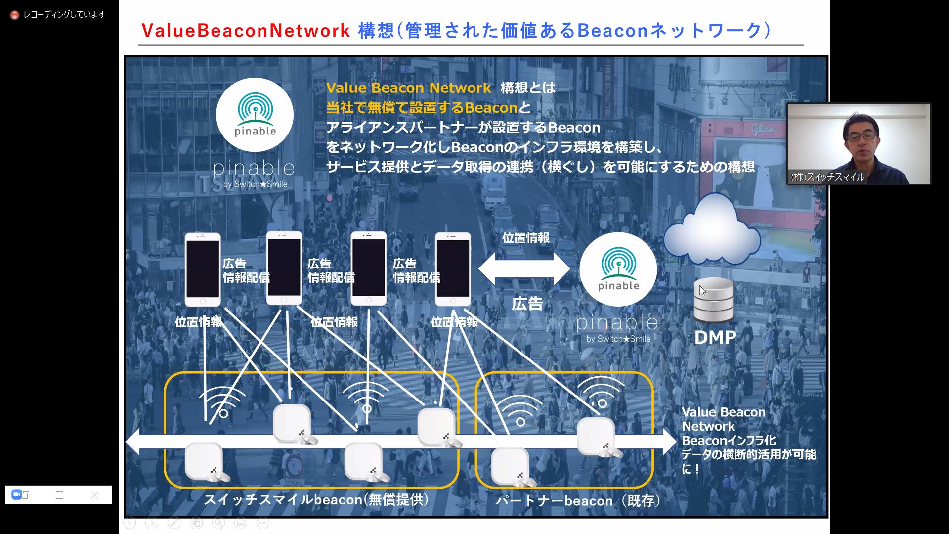 『beaconを活用したPOI位置情報プラットフォーム「pinable」』についてのプレゼンテーション資料